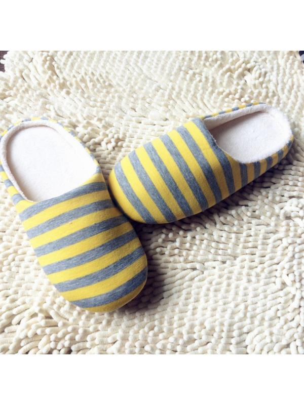 Topumt Men Women Home Anti-slip Shoes Soft Warm Cotton House Indoor Slippers Hotel Shoes
