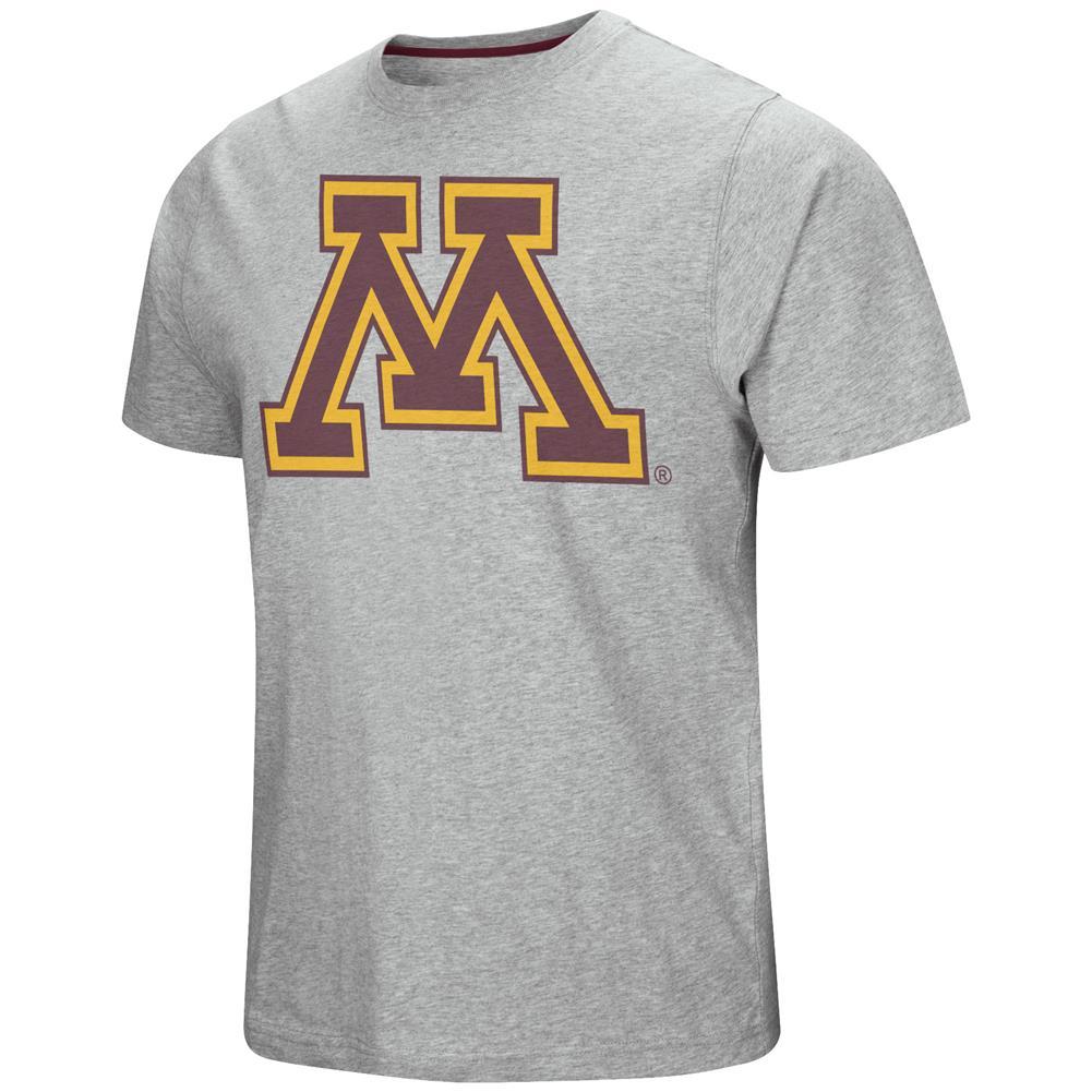 Minnesota Golden Gophers Men's T-Shirt Grey Logo Tee