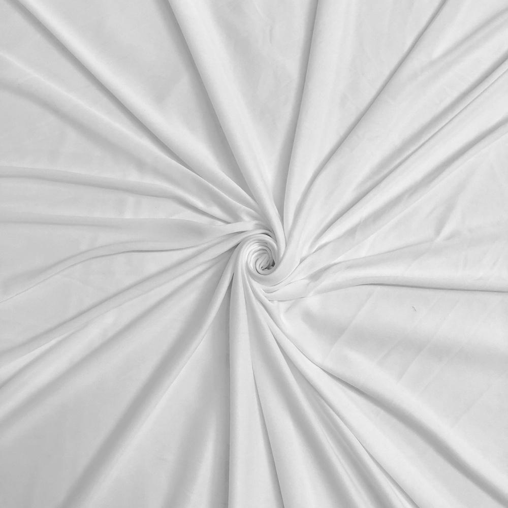 """Interlock Lining Poly Stretch Fabric 70 Denier 60"""" Wide Sold BTY Many Colors (White)"""