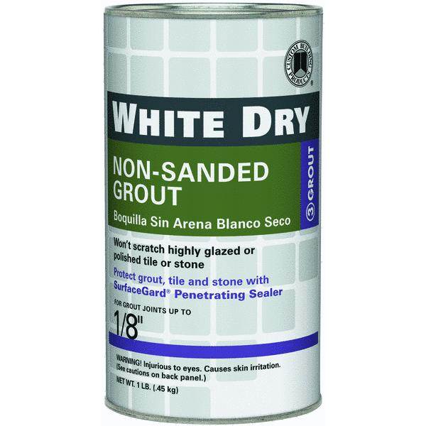 White Dry Tile Grout