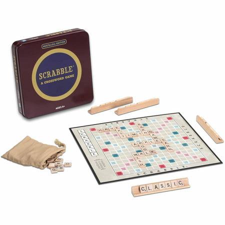 3.5 Inch Game - Scrabble Board Game Nostalgia Edition Game Tin