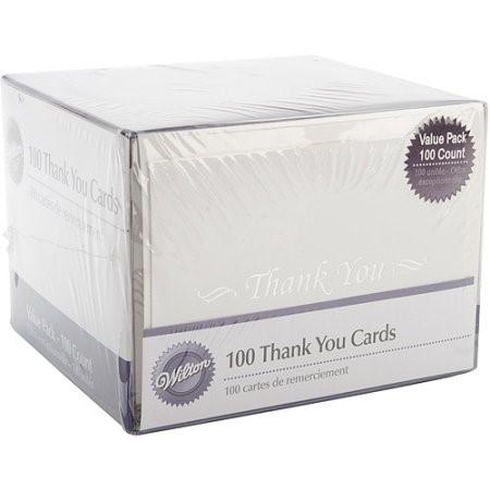 Wilton Thank You Cards, 100 Ct