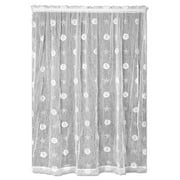 Heritage Lace Sand Dollar Graphic Print & Text Sheer Rod pocket Single Curtain Panel