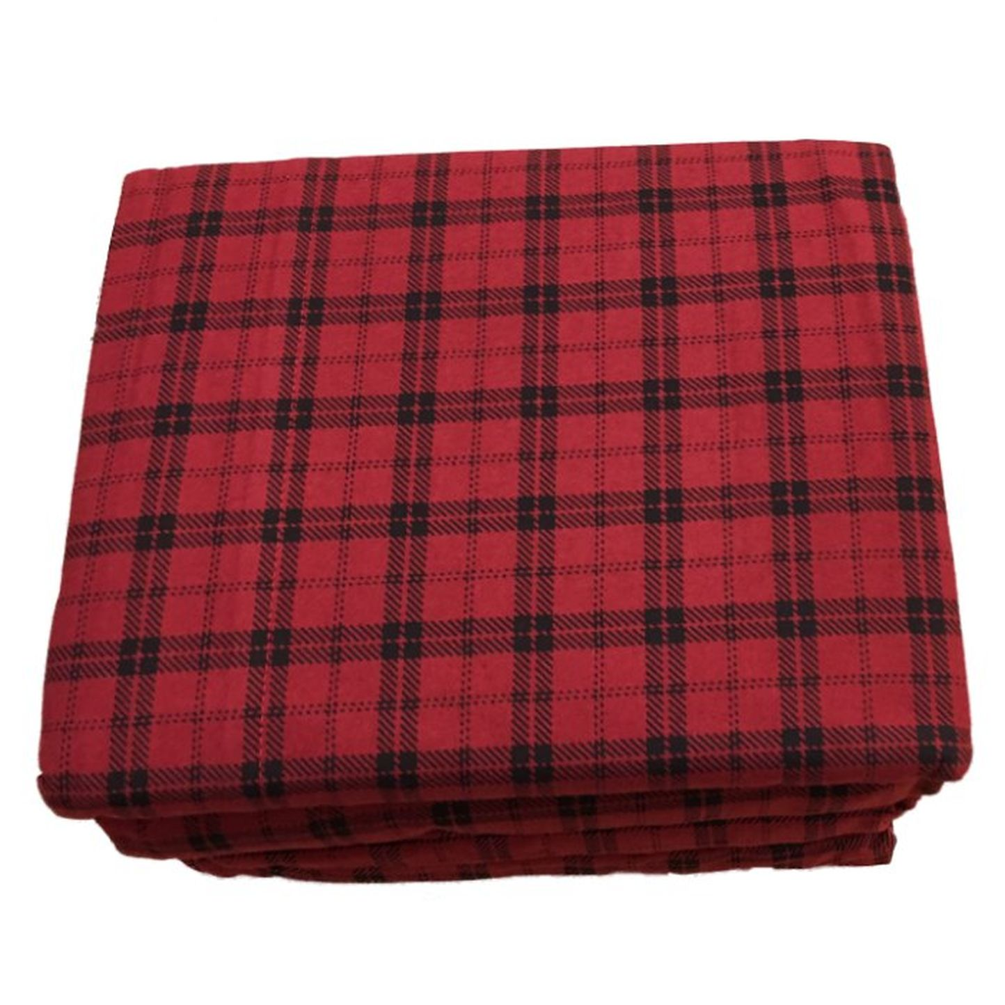 Lovely Cuddle Duds Plaid Flannel Sheet Set Red Buffalo Check Full Bed Sheets  Bedding