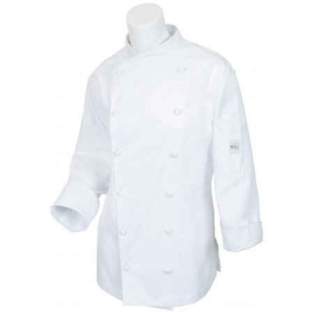 Mercer Flare (Mercer Renaissance Cutlery Women's Chef Coat (Scoop Neck) - White, Med )