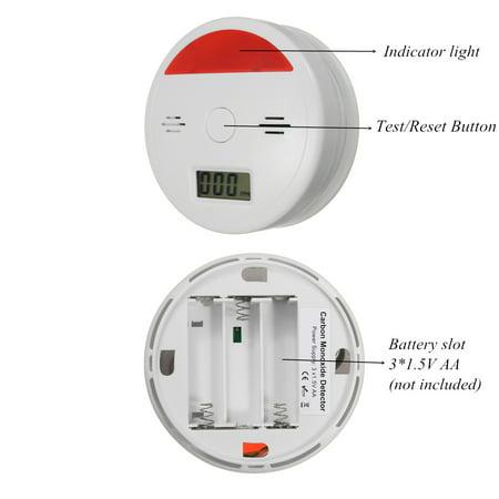 2 In 1 Battery Operated LCD Carbon Monoxide & Smoke Alarm / CO Carbon Monoxide Detector Fire Sensor Alarm Sound Combo Sensor Tester with Digital Display - image 1 of 10
