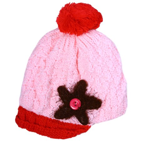 Cute Toddler Kids Girl&Boy Winter Warm Visor Crochet Knit Hat Beanie (Warm Winter Visor Cap)
