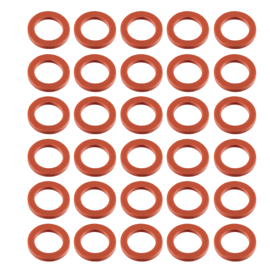 30pcs Red Silicone Round Flat Washer Assortment Size 16x24x3mm Flat Washer - image 2 of 2