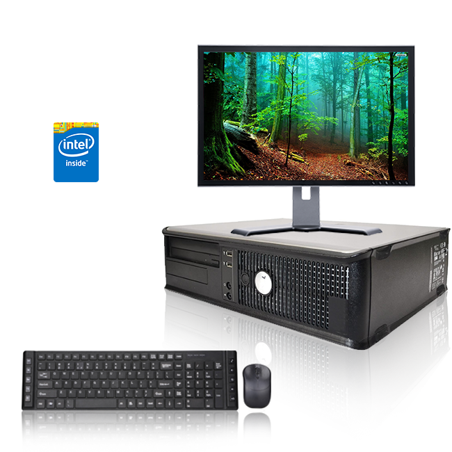 "Dell Optiplex Desktop Computer 3.0 GHz Core 2 Duo Tower PC, 6GB, 500 GB HDD, Windows 10 Home x64, Office 365, 19"" Monitor , USB Mouse & Keyboard (Refurbished)"