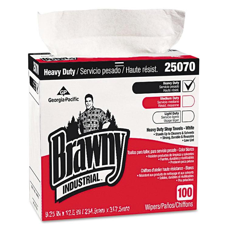Brawny Industrial, GPC25070CT, Wipers, 500 / Carton, White