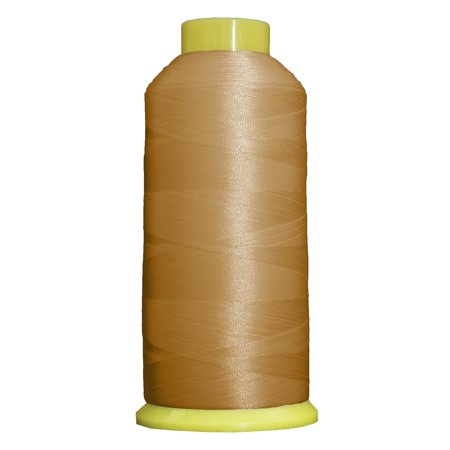 Large 5000m Cones Polyester Machine Embroidery Thread  Huge 5000M (5500 Yard) Cones 40wt  For Brother Janome Bernina Embroidery & Sewing Machines  No. 407 - Rattan - 160 Colors Available This high sheen polyester thread for machine embroidery has outstanding tensile strength and color-fastness. Polyester thread offers outstanding performance for today's sophisticated computerized sewing machines. 5000m king size cones (2200yds)  100% Polyester. 40 wt.