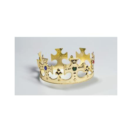 PRINCE CROWN-GOLD PLASTIC - Plastic Prince Crown