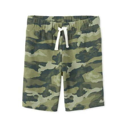 The Children's Place Boys 4-16 Camo Printed Knit Shorts Snow Camo Shorts