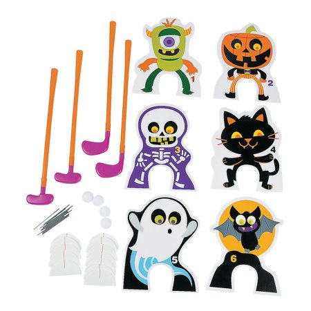 Fun Express - Halloween Spookadelic Golf Game for Halloween - Toys - Games - Indoor & Mini Game Sets - Halloween - 26 Pieces