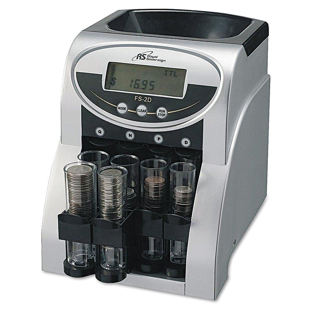 Royal Sovereign electric coin sorter, 2 rows of coin coun...