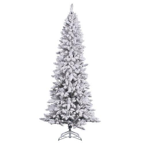 Vickerman Flocked Pencil Pine Christmas Tree