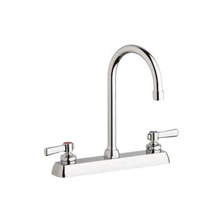 Chicago Faucets W8d Gn2ae35 369ab Kitchen Faucet Double Handle Chrome