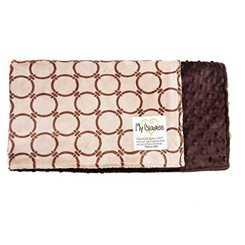 My Blankee Dolce Vita Anelli Minky Biscuit/Cocoa w/ Minky...