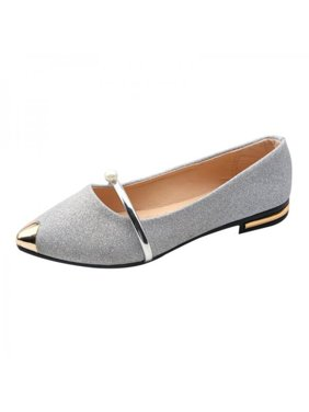 3017aa9f1af39d Product Image Funcee Elegant Women Pointed Toe Low Heels Frosted Shoes