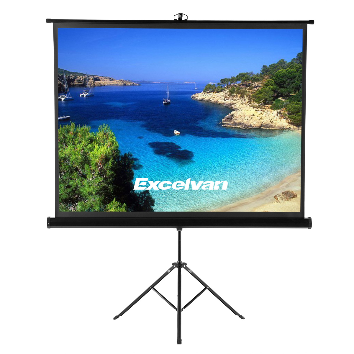 """100/"""" 1.1Gain Portable Pull Up Projection Projector Screen 4:3 with Stand Tripod"""