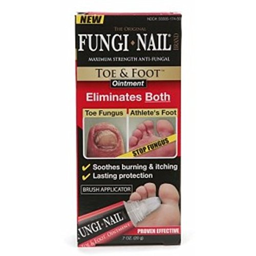 The Original Fungi Nail Toe & Foot Brand Maximum Strength Anti-Fungal Ointment 0.7 fl. oz. Box