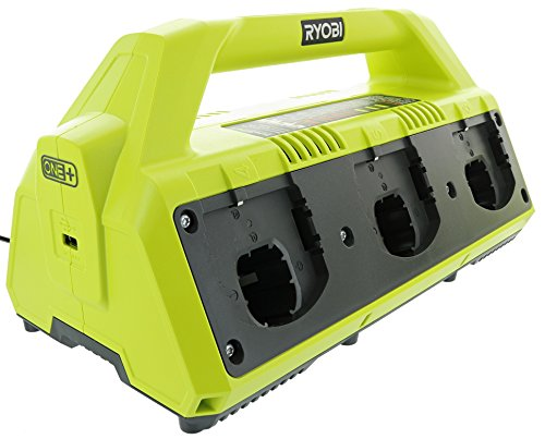 Ryobi P135 18V One+ 6 Port Lithium Ion Battery Supercharger (18V Batteries Not Included/Charger Only)