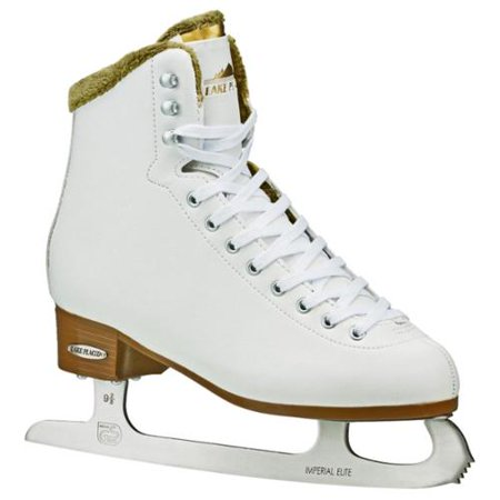 Lake Placid Women's Whitney Traditional Figure Ice Skates (White 4) by
