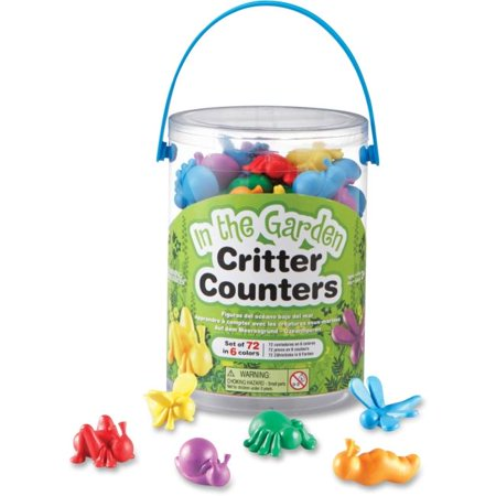 Learning Resources LRNLER3381 The Garden Critter Counters - Multi Color, Set of 72 - image 1 of 1