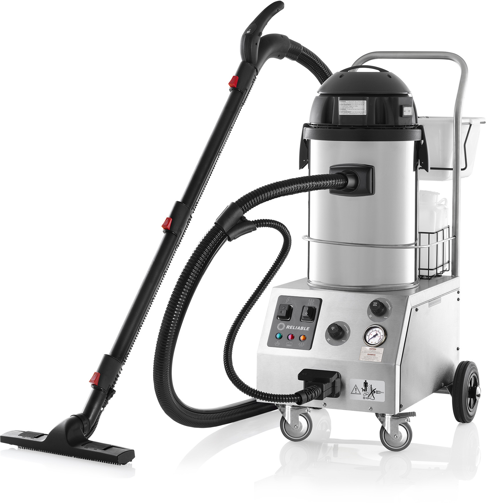 Reliable Corporation Tandem Pro Commercial Steam & Vacuum Cleaner with Auto Refill & Accessory Kit