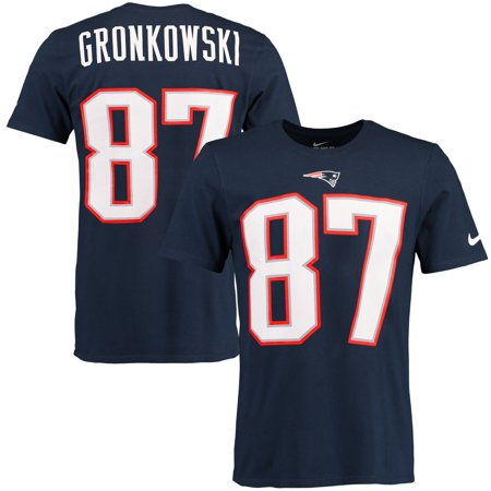 Rob Gronkowski New England Patriots Nike Player Pride Name & Number T-Shirt - Navy Blue