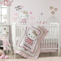 Hello Kitty Luv 3PC Crib Bedding Set