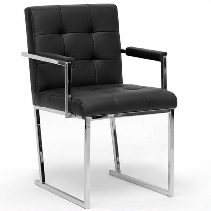 Collins Black Mid-Century Modern Accent Chair