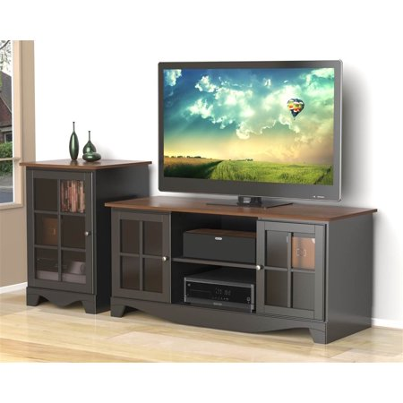 2-Pc Eco-Friendly Entertainment Set in Black
