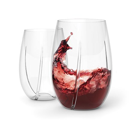 WHIRL™ Aerating Wine Glasses by - Multi Colored Wine Glasses