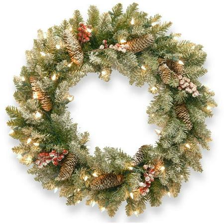 Large Christmas Wreath (National Tree Pre-Lit 24