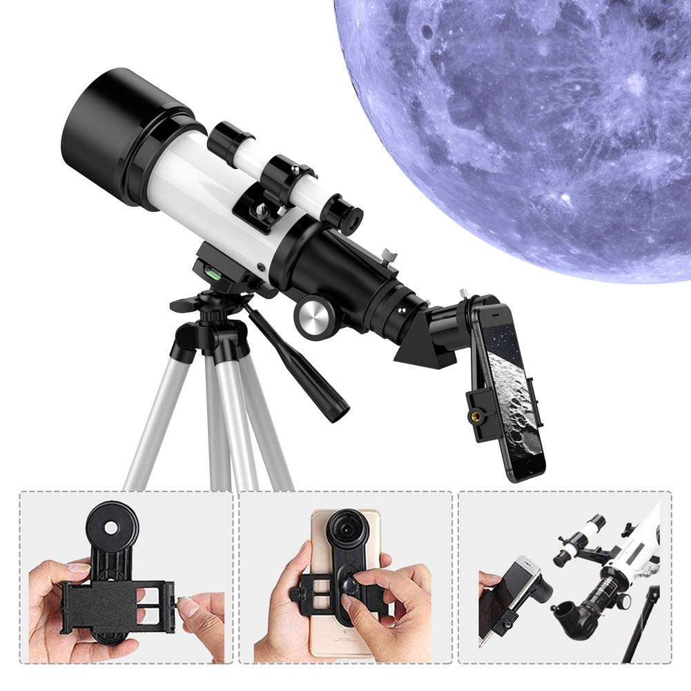70mm Aperture 300mm AZ Mount Portable Telescope with Phone Adapter//Tripod//Fully Multi-Coated Optics,Telescopes for Astronomy Beginners Kids Adults Upgrade 1Set Upgrade Telescopes for Adults