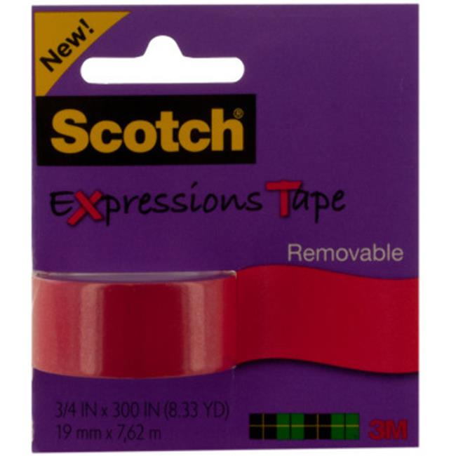 DDI 1881646 Scotch Expressions Removable Tape, Red