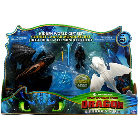 How to Train Your Dragon The Hidden World Hidden World Gift Set [Toothless, Lightfury & Hiccup] (Train Dragon Set)