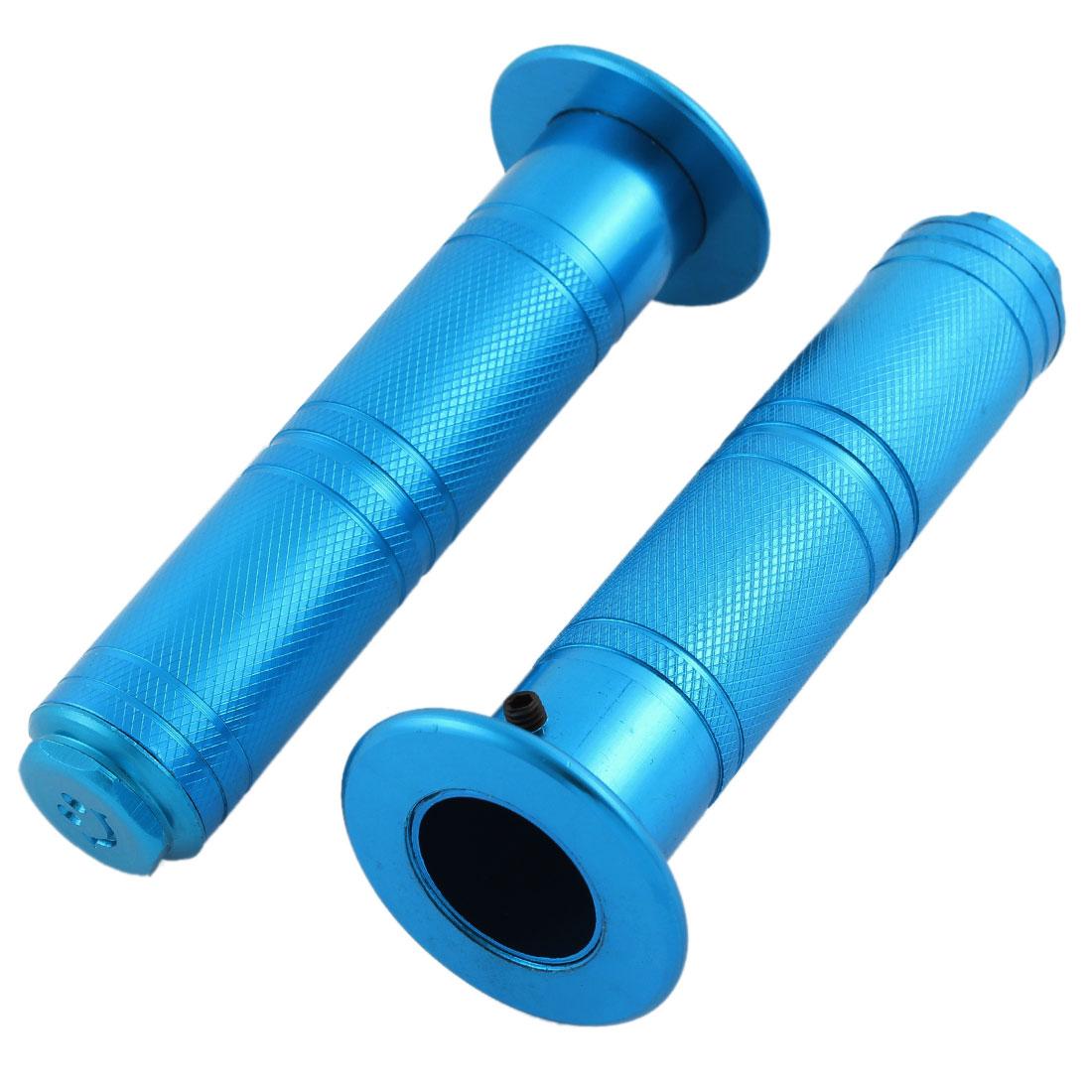 Unique Bargains Motrobike Blue 2.5cm Inner Dia Rustless Handlebar Grips Covers 2 Pcs
