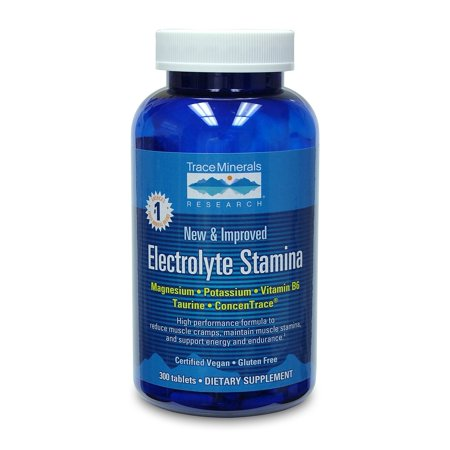 Research Magnesium (Trace Minerals Research Electrolyte Stamina 300 Tablets - Vegan )