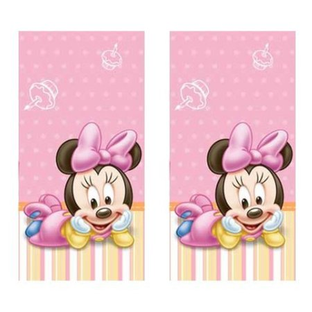 minnie mouse 1st birthday party plastic tablecovers - 2 pieces](Minnie Mouse Table Cover)