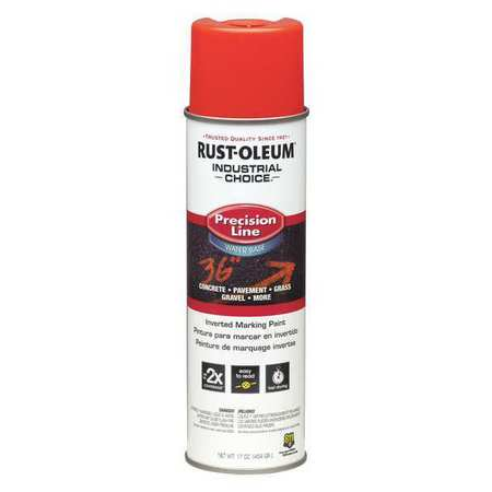 Red Rust (RUST-OLEUM Line Marking Paint,17 oz.,Fl Red Orng 203037 )