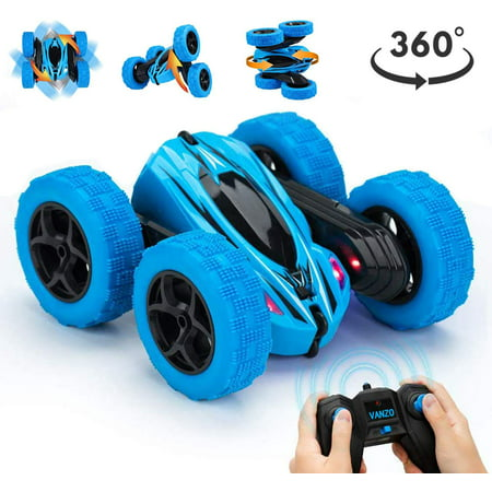 RC Stunt Toys Car Remote Control Car, 360° Flips Double Sided Rotating Race Car, 4WD Monster Truck Tumbling Crawler Vehicle, Best Gift for Kids