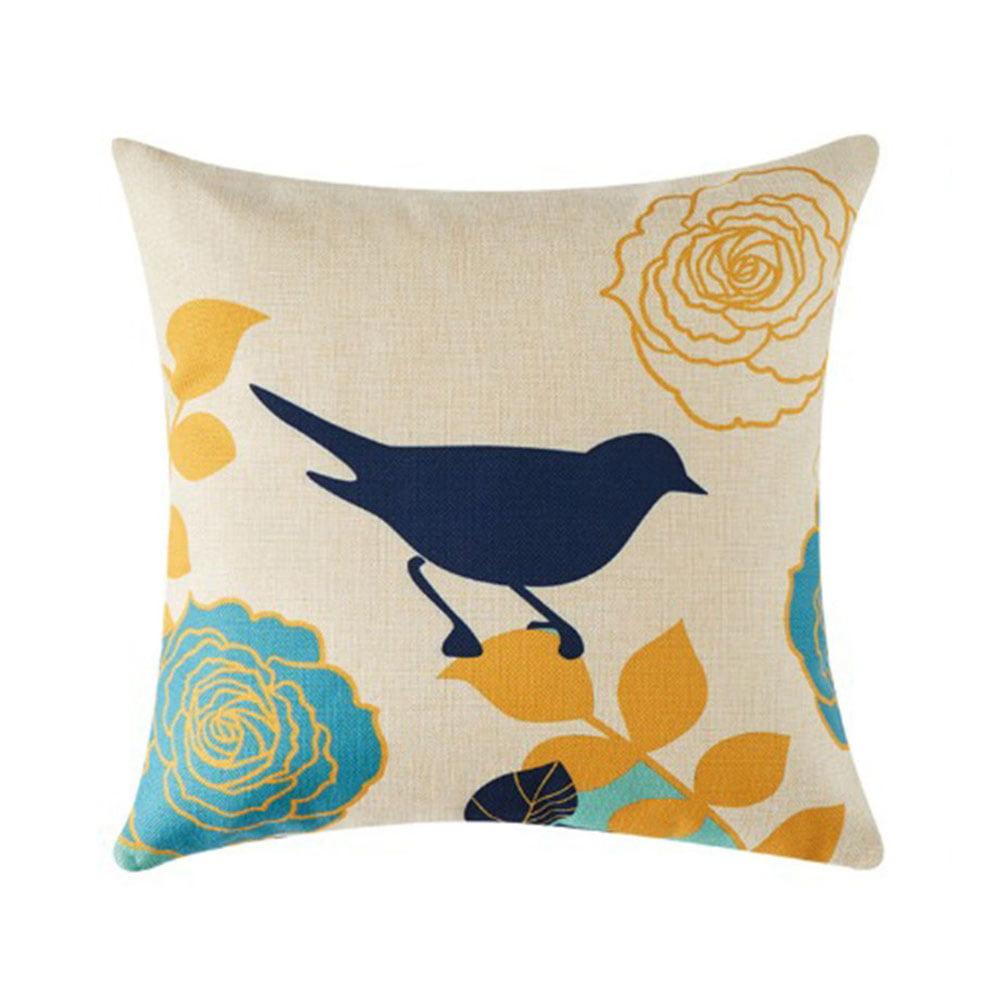 Pillowcase Flower Bird Print Household Pillowcase Cushion Covers Square Pillow Accessories Walmart Canada