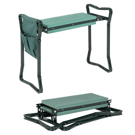 Garden Kneeler And Seat - Protects Your Knees, Clothes From Dirt & Grass Stains - Foldable Stool For Ease Of Storage ()