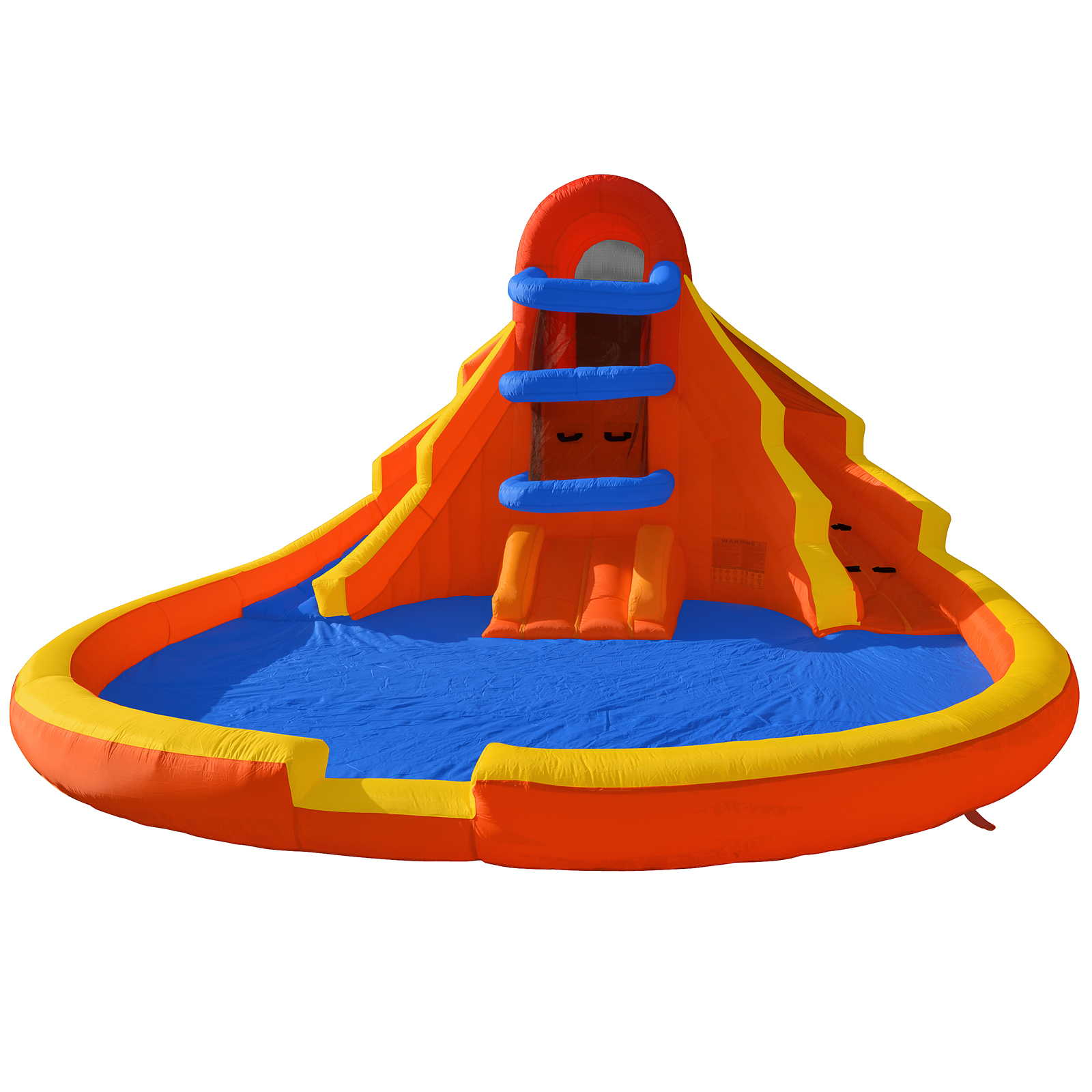 Cloud 9 Climb 'n' Slide - Inflatable Outdoor Double Water Slide and Climbing Wall