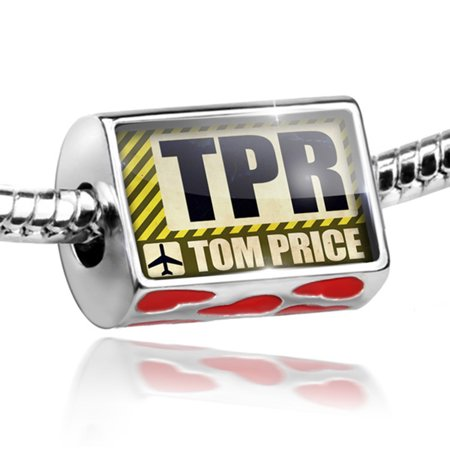 Bead Airportcode Tpr Tom Price Charm Fits All European Bracelets