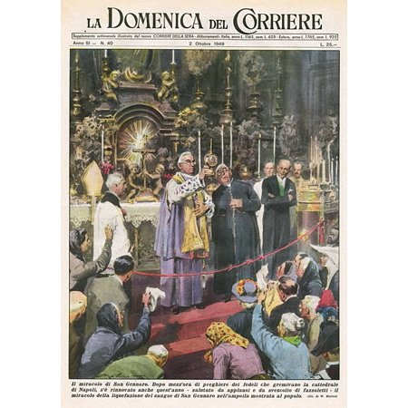 Blood Of S Gennaro Poster Print By Mary Evans Picture Library (Pictures Of S)
