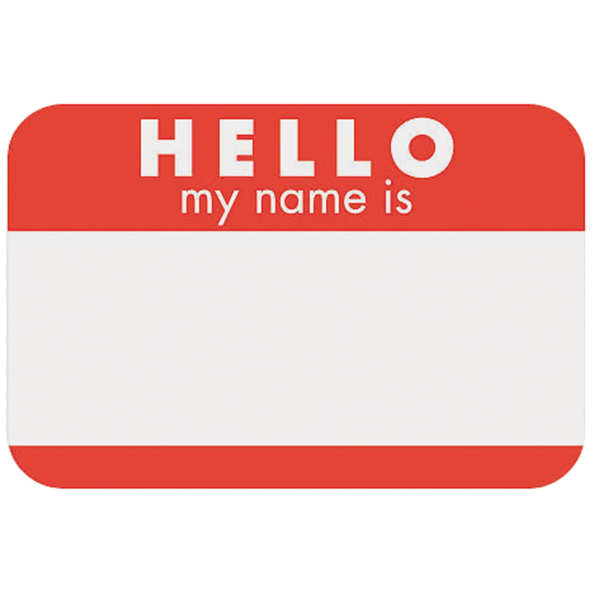 It is a photo of Hello My Name is Printable with regard to self adhesive
