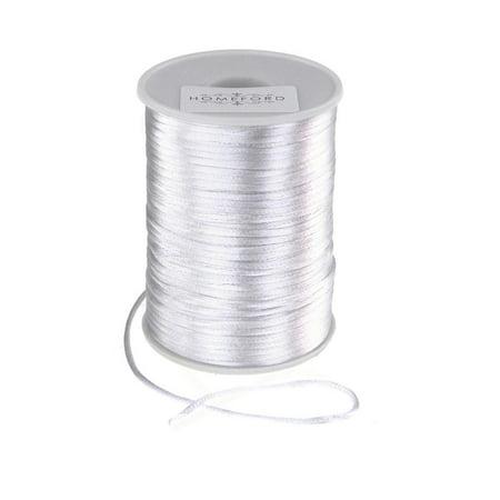 Satin Rat Tail Cord Ribbon Chinese Knot, 1/16-Inch, 100-Yard, -